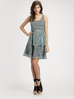 Theory - Faitina Striped Silk Dress