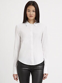 Theory - Stretch Cotton Button-Down Shirt