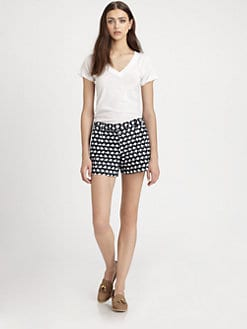 Theory - Roushy Abstract Print Shorts