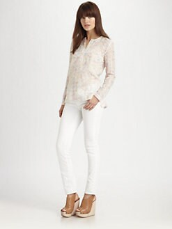 Theory - Strasera Eyelet Silk Tunic