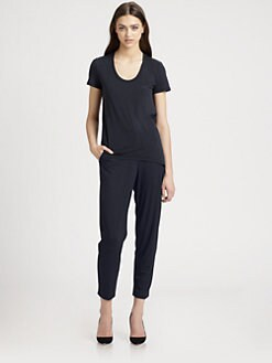 Theory - Rovita Draped Back T-Shirt