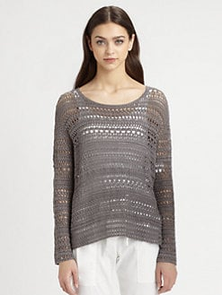 Theory - Amena Crochet Sweater