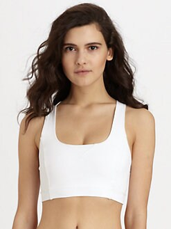 Theory - Cropped Crossback Tank Top