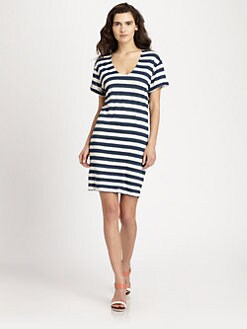 Theory - Karelo Striped Linen Dress