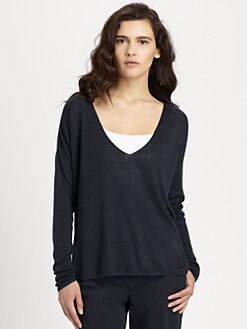 Theory - Randelle Stretch Linen Sweater