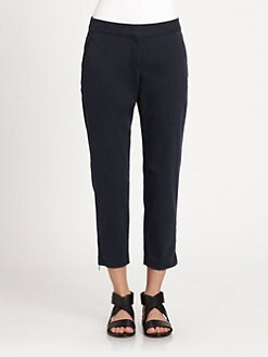 Theory - Scyler Stretch Cotton Cropped Pants