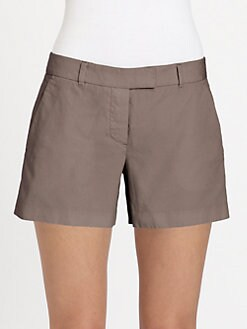 Theory - Bennie Stretch Cotton Shorts