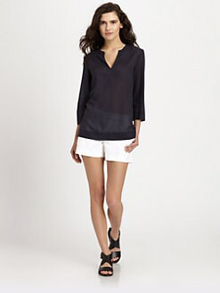 Theory - Aliso Semi-Sheer Blouse