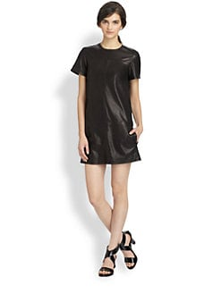 Theory - Eliora Ford Leather Dress