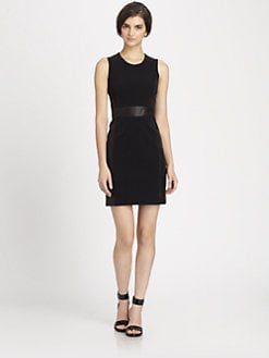 Theory - Taline Leather Panel Dress
