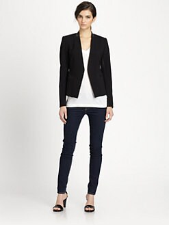 Theory - Lanai Huntington Leather Panel Blazer