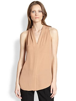 Theory - Hylin Silk Blouse