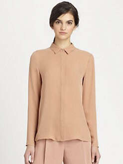 Theory - Sirma Silk Blouse