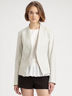 Theory - Striped Open Blazer