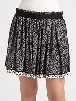 Theory - Pilado Printed Silk Ruffle Skirt