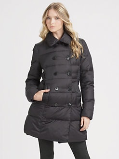 Theory - Double-Breasted Puffer Coat