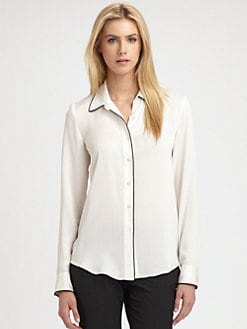 Theory - Cully Silk Top