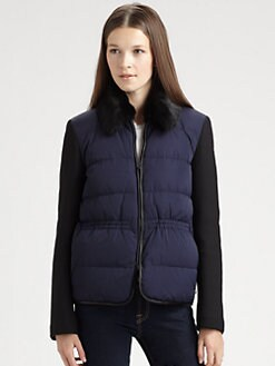 Theory - Joanah Fur-Trimmed Jacket