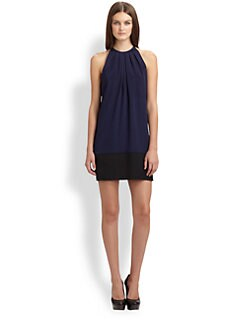 Theory - Charlaine Silk Colorblock Dress