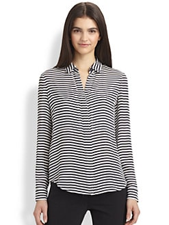Theory - Durlia Striped Silk Shirt