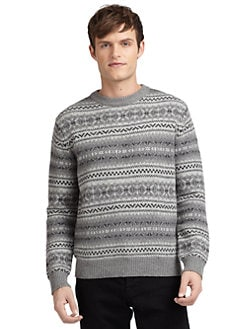 BLUE Saks Fifth Avenue - Fair Isle Crewneck Sweater