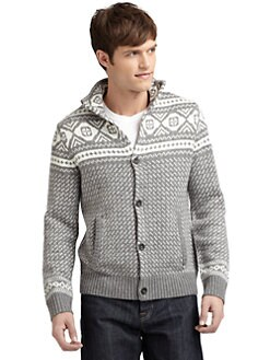 BLUE Saks Fifth Avenue - Fair Isle Cardigan