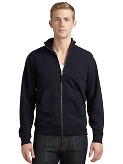 BLUE Saks Fifth Avenue - French Terry Zip-Front Jacket