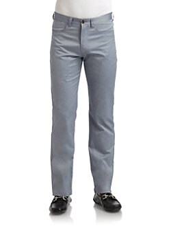 BLUE Saks Fifth Avenue - Five-Pocket Oxford Pants