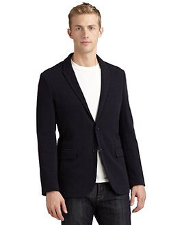 RED Saks Fifth Avenue - Two-Button Knit Blazer/Black
