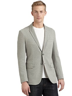 RED Saks Fifth Avenue - Two-Button Knit Blazer/Grey