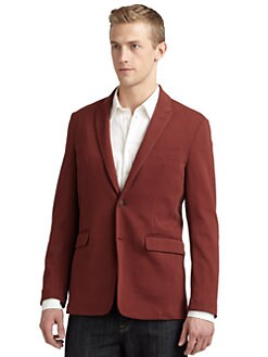 RED Saks Fifth Avenue - Two-Button Knit Blazer/Burgundy
