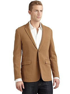 RED Saks Fifth Avenue - Two-Button Knit Blazer/Tan