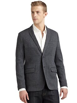 RED Saks Fifth Avenue - Jacquard Windowpane Blazer