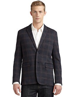RED Saks Fifth Avenue - Jacquard Plaid Blazer