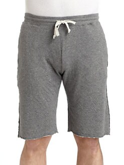 GRAY Saks Fifth Avenue - Cotton Jersey Raw Edge Shorts