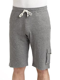 GRAY Saks Fifth Avenue - Cotton Jersey Cargo Shorts
