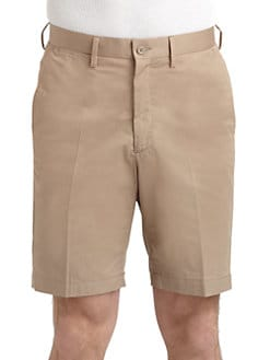 BLACK Saks Fifth Avenue - Cotton Khaki Golf Shorts