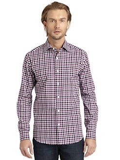 BLACK Saks Fifth Avenue - Gingham Check Button-Down Shirt