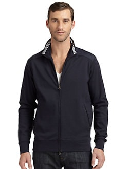 BLACK Saks Fifth Avenue - Cotton Zip Jacket