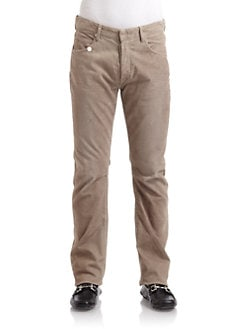 GRAY Saks Fifth Avenue - Five-Pocket Corduroy Jeans