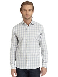 BLACK Saks Fifth Avenue - Plaid Button-Down Shirt