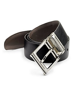 BLACK Saks Fifth Avenue - Modern Leather Belt