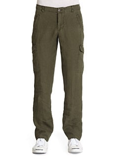 GRAY Saks Fifth Avenue - Linen Cargo Pants