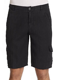 GRAY Saks Fifth Avenue - Linen Cargo Shorts