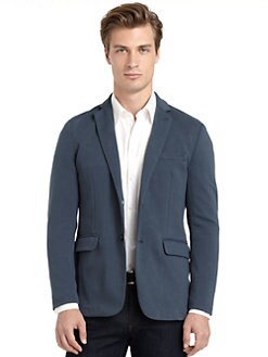 RED Saks Fifth Avenue - Knit Trim-Fit Blazer