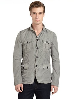 GRAY Saks Fifth Avenue - Nylon Button-Front Jacket
