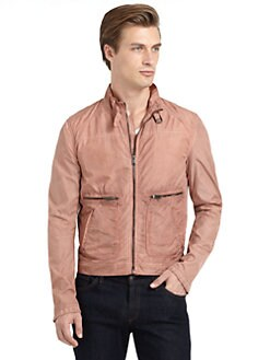 GRAY Saks Fifth Avenue - Nylon Zip Pocket Jacket