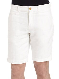 BLUE Saks Fifth Avenue - Linen Shorts