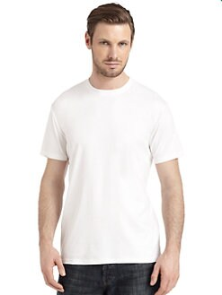 BLACK Saks Fifth Avenue - Classic Cotton Crewneck Tee