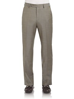 BLACK Saks Fifth Avenue - Wool Bird's-Eye Trousers